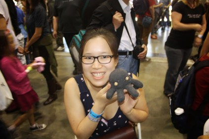 Diana Eng shows off her Glovetopus.