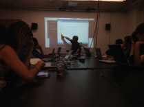 Tom Igoe giving a sneak peak at the Arduino Yún at the ITP Summer Camp earlier in the year.