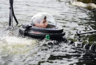 Cruising in his latest sub.