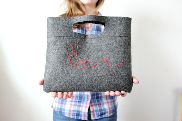 How-To: Embroidered Felt Clutch