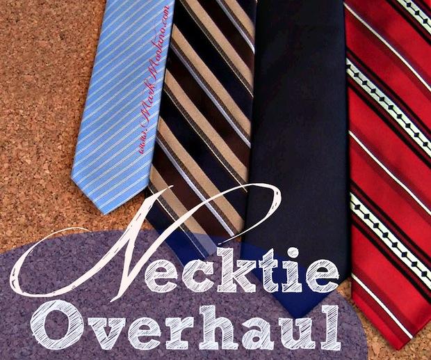 How-To: Slim Down Vintage Neckties