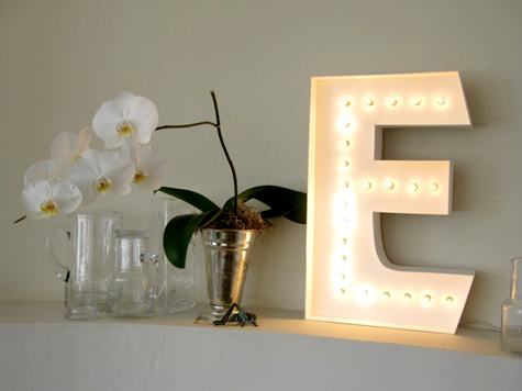 DIY Light-Up Marquee Letter