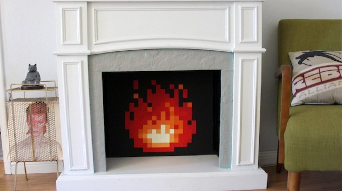 How-To: Legend of Zelda-Inspired 8-Bit Fireplace Insert