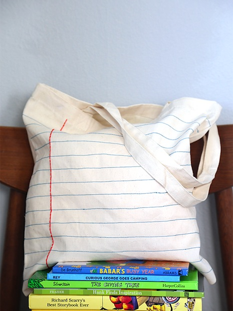 How-To: Embroidered Notebook Tote Bag