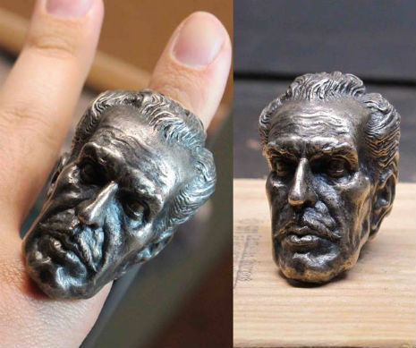 Silver Vincent Price Ring