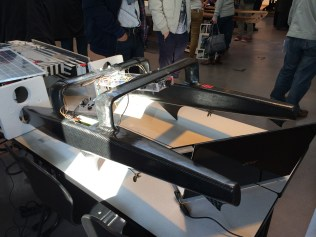 A boat from the lightest competition class.