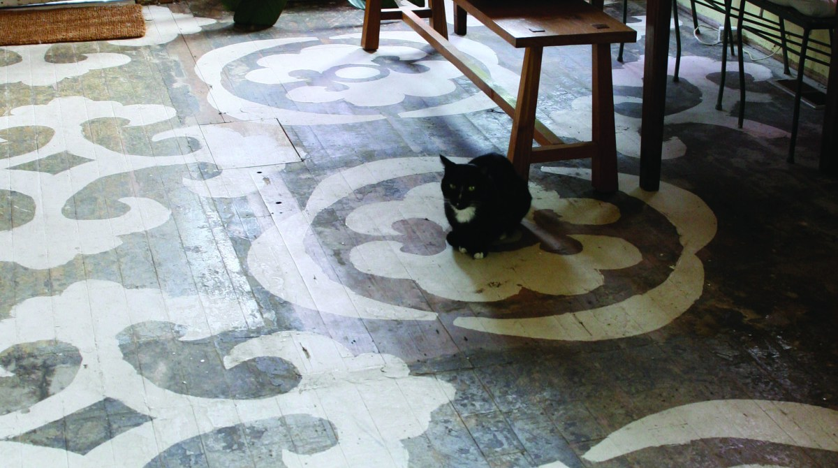 How-To: Hand-Printed Patterned Floor