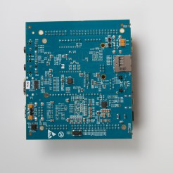 Bottom view of the new Arduino Tre board.