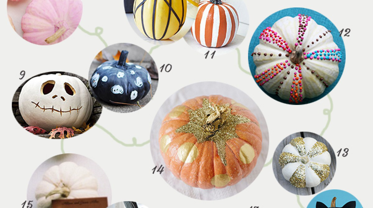25 Creative Ideas for Decorating Pumpkins