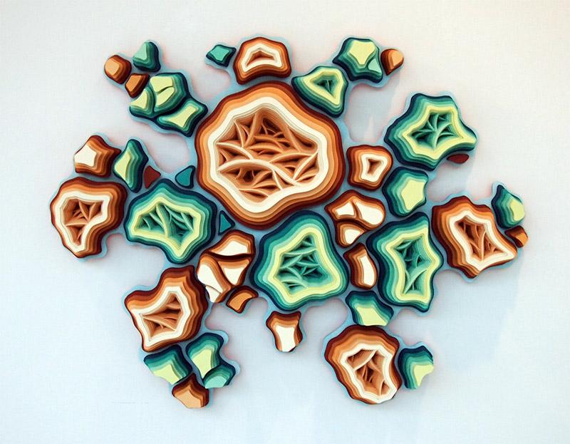 Hand-Cut Paper Microorganism Sculptures