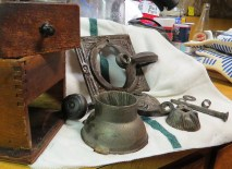 Disassembled grinder.