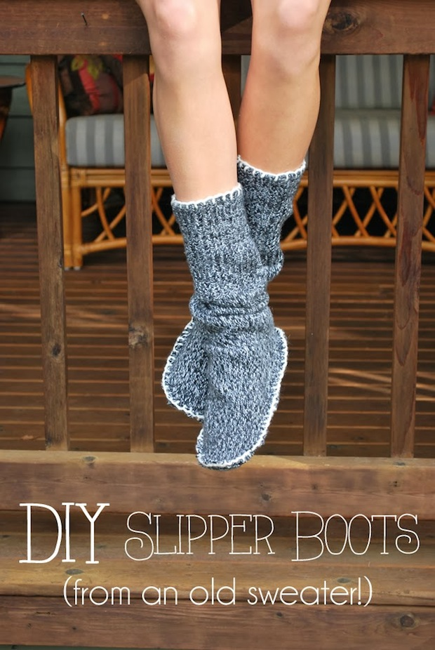 How-To: Cozy Upcycled Slipper Boots