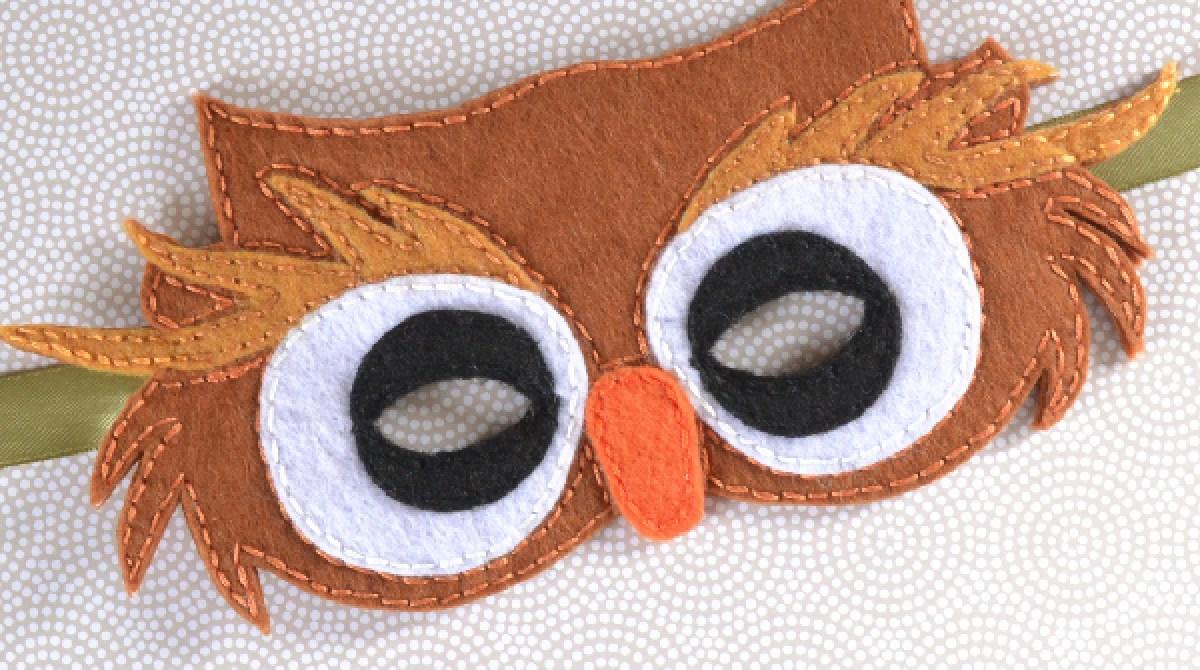 Last-Minute Halloween: Felt Owl Mask