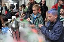People enjoying feeze-dried ice cream