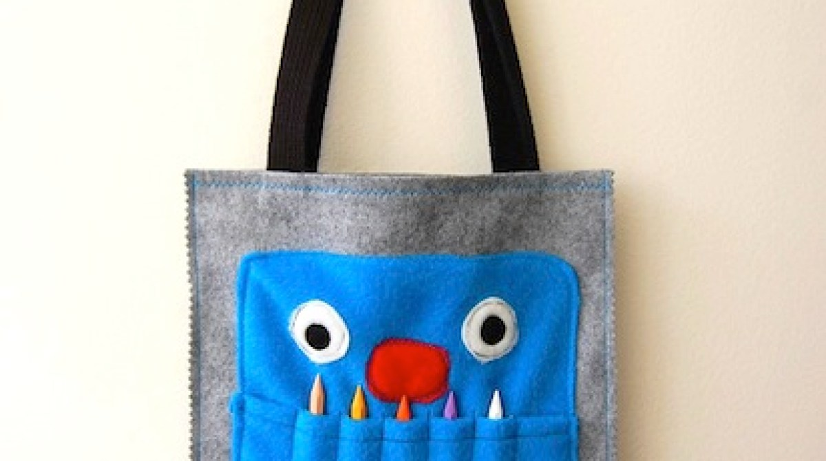 How-To: Crayon Monster Art Tote Tutorial