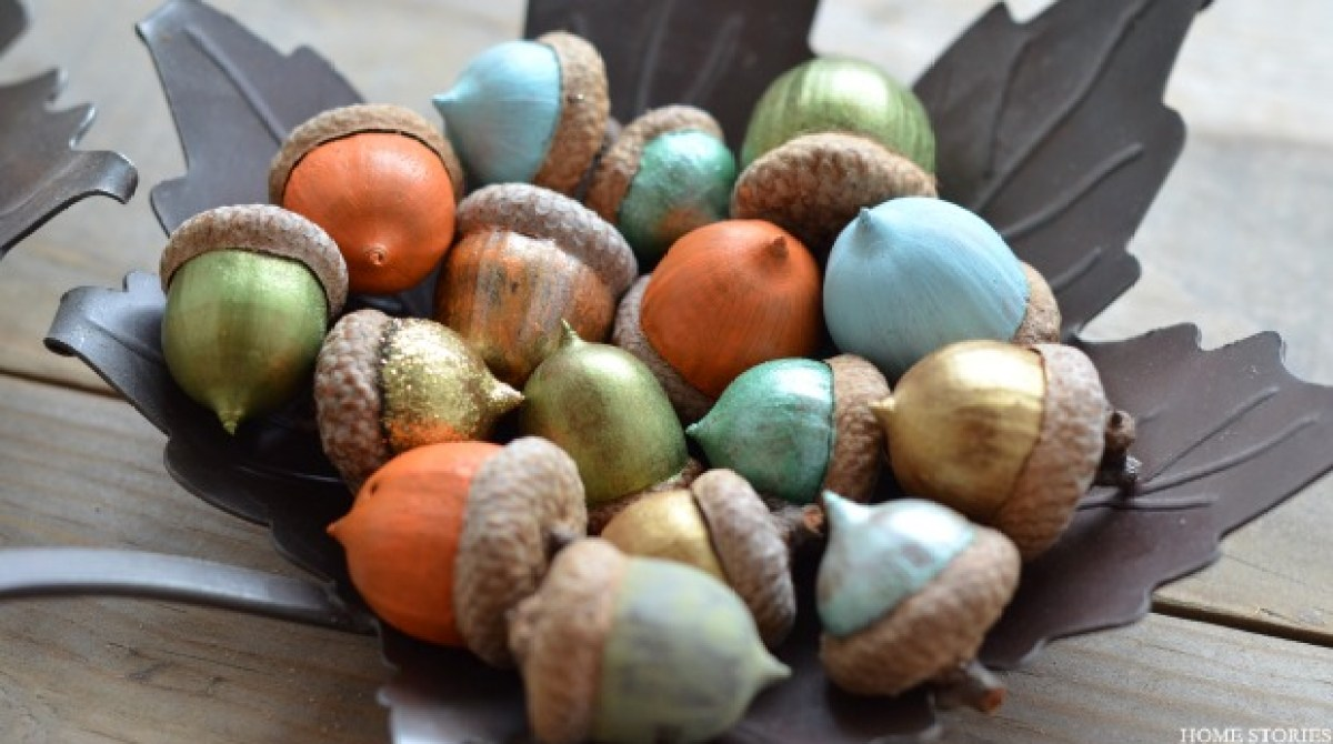 How-To: Painted Acorns