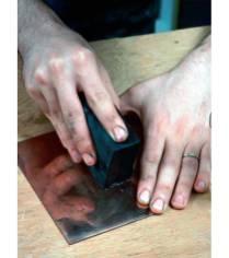 Preparing the copper plate