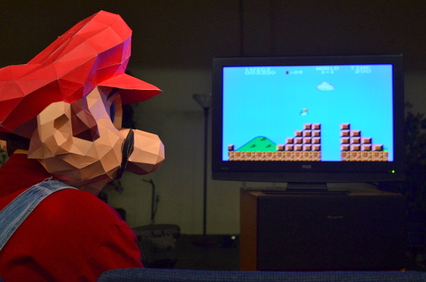 Making a big Head Mario Costume