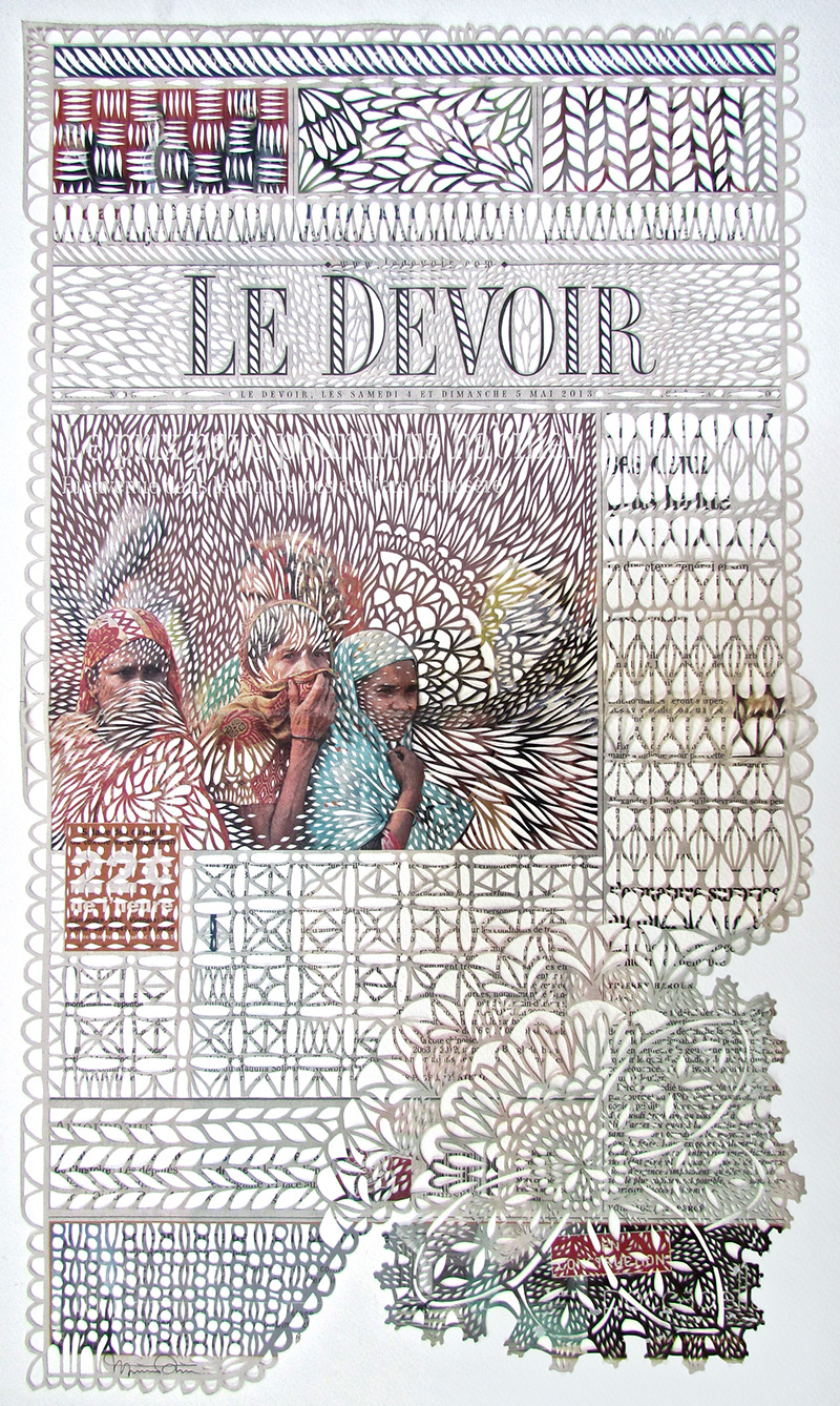 Myriam Dion's Lace Newspapers