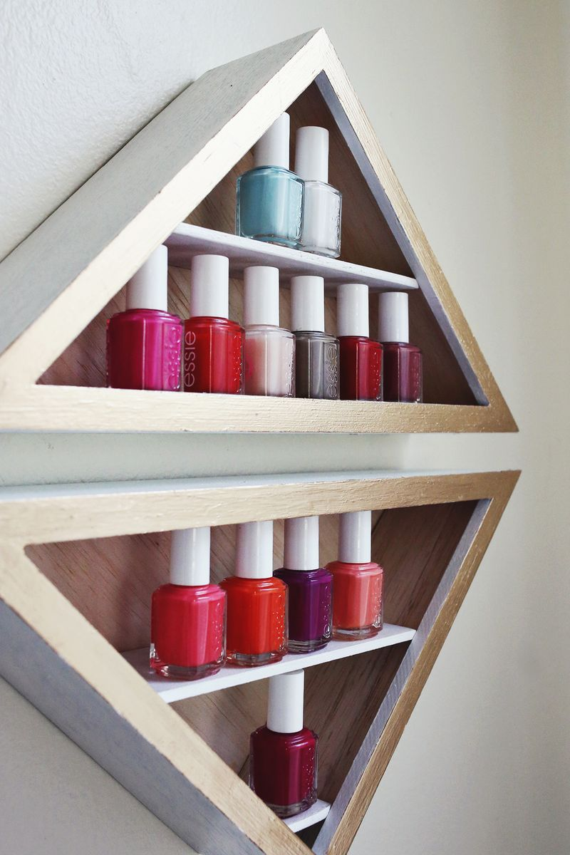 DIY Triangle Shelves
