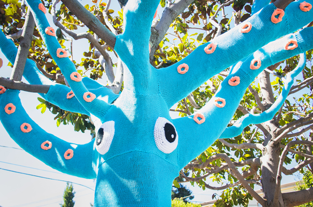 Yarn Bombed Squid Tree