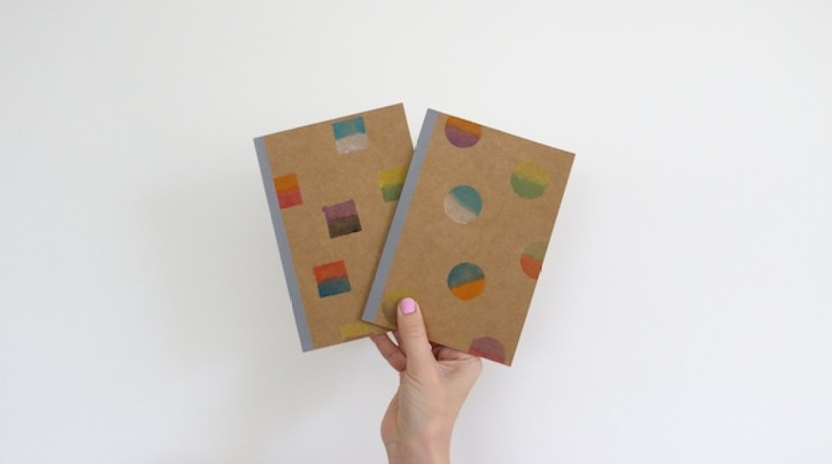 How-To: Watercolor Stenciled Notebooks