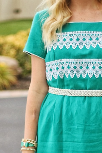 How-To: No-Sew Lace-Embellished Dress