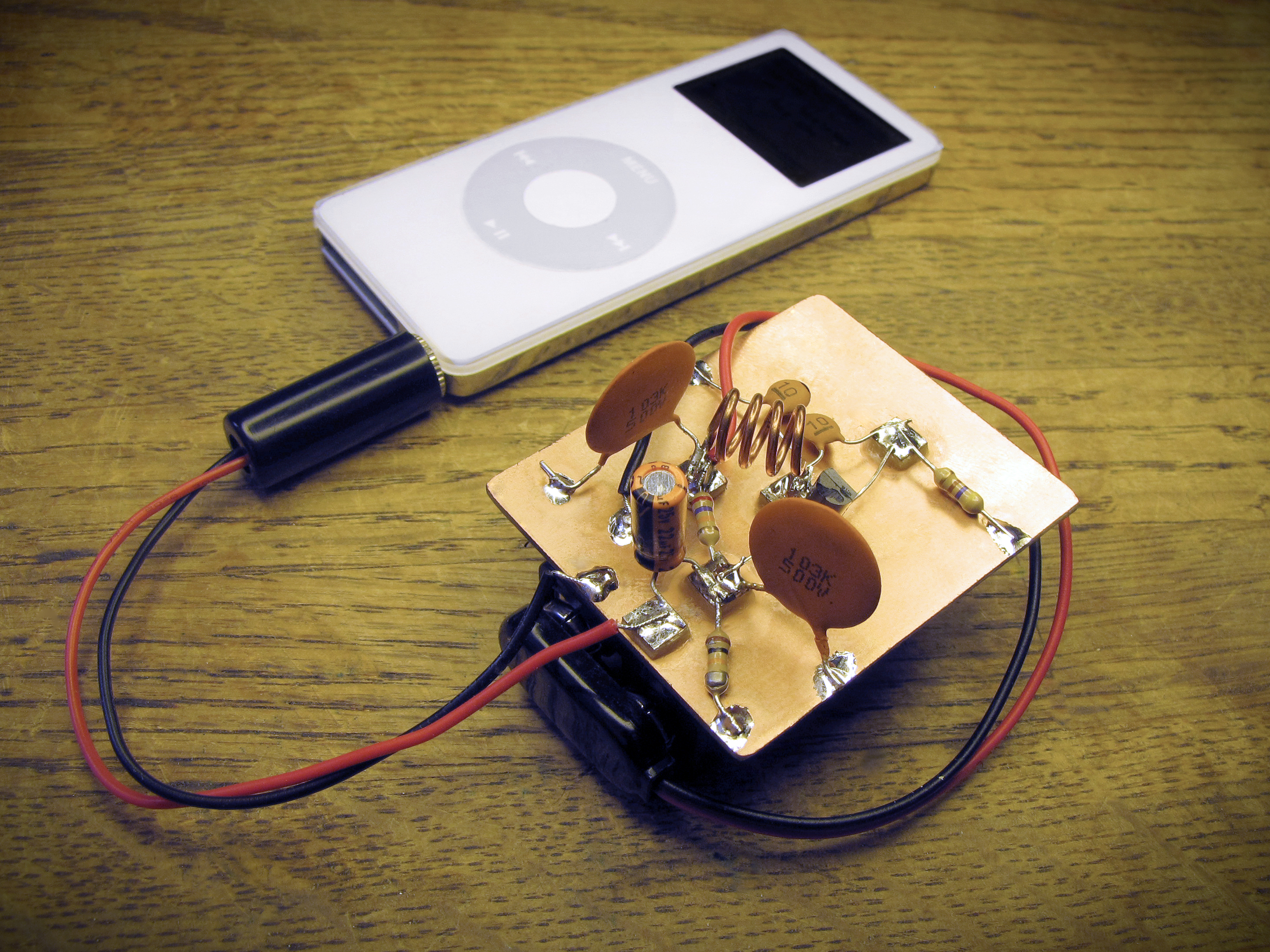 Super Simple Ipod Fm Transmitter Make Stereofmtransmittercircuitpng