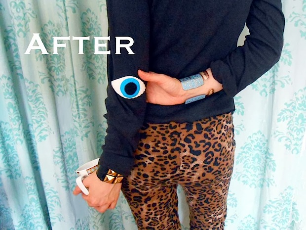 How-To: Eye-Shaped Elbow Patch