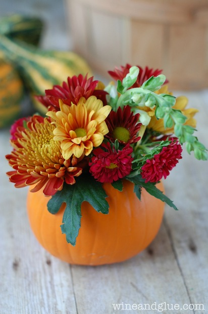 How-To: Floral Thanksgiving Centerpiece