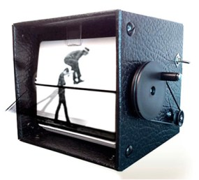 """In a similar vein, kinetic artists Mark Rosen and Wendy Marvel launched their FlipBooKit at World Maker Faire 2012 in New York. It's a new """"spin"""" on the vintage devices known as a Mutoscope and Kineograph."""