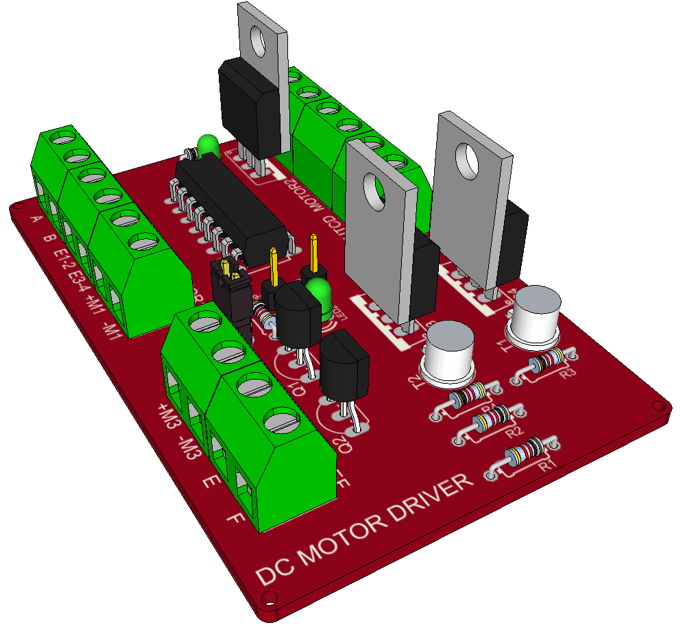 Making a DC Motor Driver With a L293D