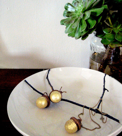 How-To: Gilded Acorn Charms