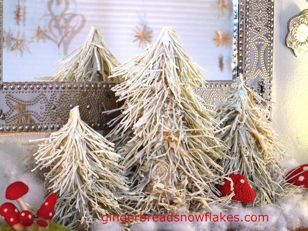 How-To: Winter Wonderland Corn Husk Trees