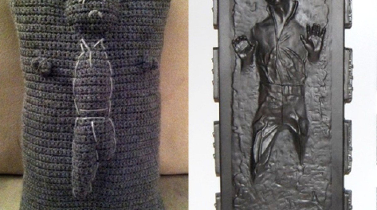 Han Solo in Carbonite Throw Pillow