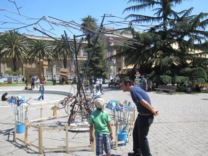 Sebastian Muhr's kinetic bicycle tree