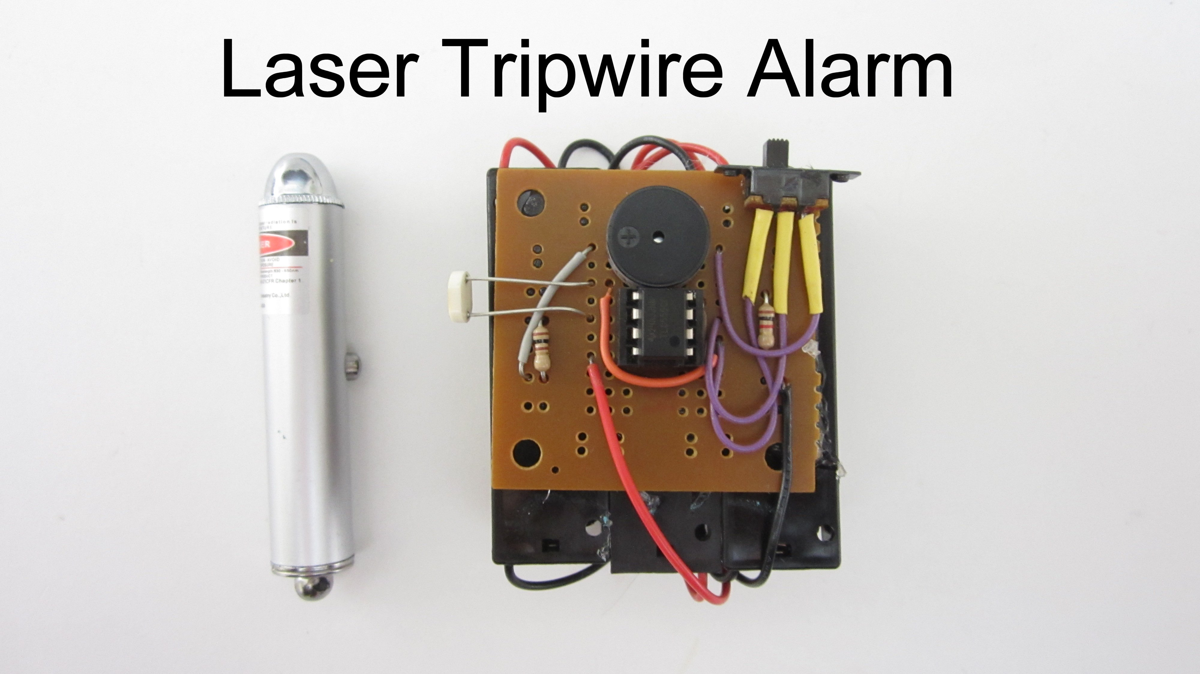 Build A Simple Laser Tripwire Alarm Make Pics Photos Your Own Metal Detector Projects Circuits
