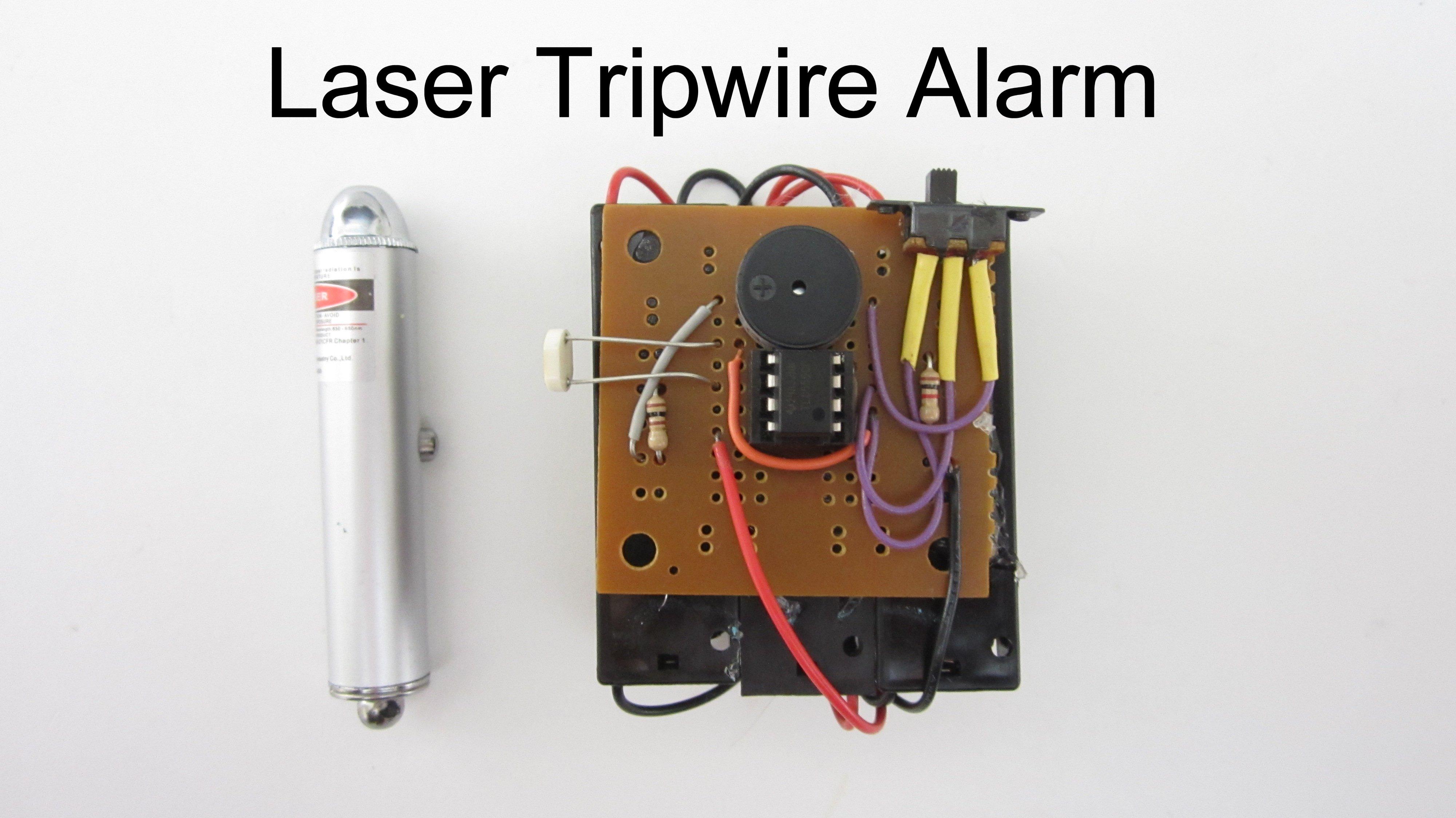 Build A Simple Laser Tripwire Alarm Make Buzzer Beeper Circuit Circuits Caroldoey