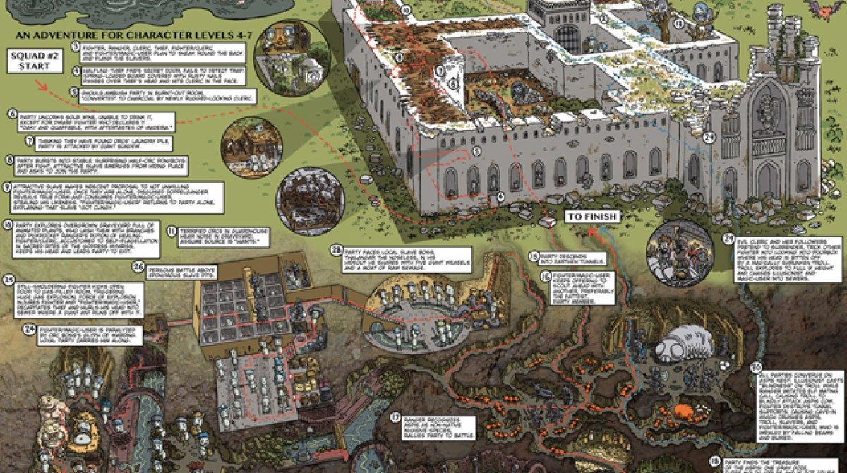 Beautiful D&D Maps Recount Days of Adventure