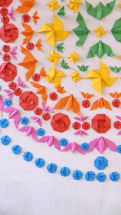 Origami Street Installations
