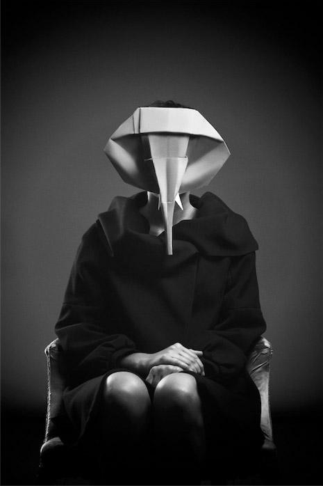Photographs of Origami Animal Masks