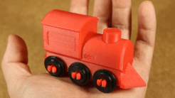 3D Builder train model, made physical