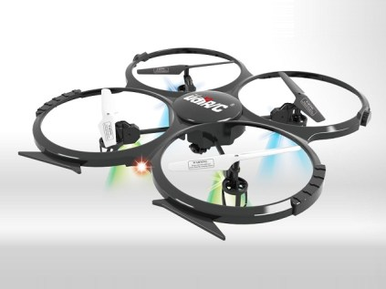 Last year I reviewed the UDI U816 4CH Mini Quadcopter. This year UDI produced a new quadcopter with a video camera for entry level aerial photography and videography. It's not the full HD quality you'd get from a GoPro camera or the like, but it's pretty good for the price. Video is downloaded via a USB cable after your flight. A 6-axis gyro helps with stable flight for good pictures and video.