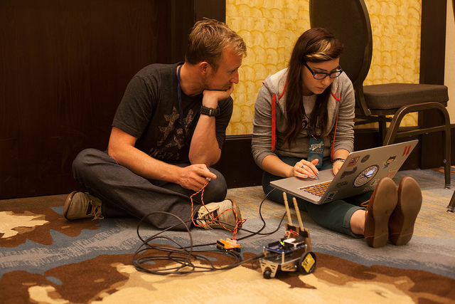 RobotsConf: Transforming Coders to Makers in 48 Hours
