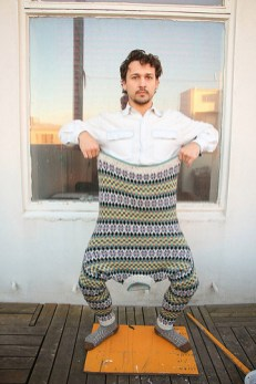 """It used to be that sweaters and pants were two completely separate concepts, but 2013 changed all that with a revolutionary tutorial for making sweaters into pants by Stephen West, and the birth of the term """"swants."""""""