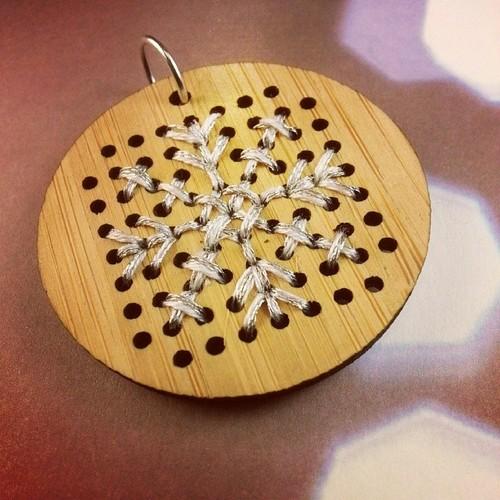 Cross-Stitched Snowflake Kit