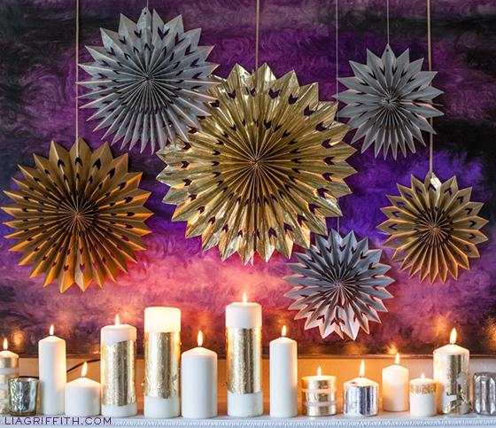 New Year's Decor: DIY Paper Foil Stars