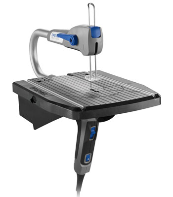 The Dremel Moto-Saw is a 2-in-1 saw that can function as a bench-mounted scroll saw and as hand-held powered coping saw. It is especially useful for making controlled and precise cuts in thinner materials, such as when making cutouts in plywood, plastic, or metal project enclosures. Dremel Moto-Saw Closer Look (via ToolGuyd)