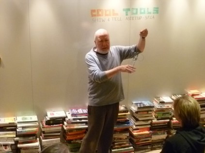 Cool Tools publisher Kevin Kelly shows a crab snare, sort of an inside-out trap.