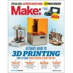 """Which 3D printer is right for you? The 2014 Ultimate Guide to 3D Printing features brand new reviews of 23 3D printers currently on the market, as well as 3D scanners and filament extruders, in a 47 page """"3D printer buying guide"""".  This special issue of MAKE also highlights cool, useful, and specialized 3D printed applications and amazing folks that are using 3D printing in interesting ways."""